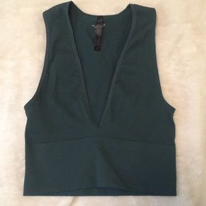 Urban outfitters green seamless tank top